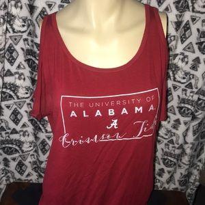 Alabama cold shoulder flowy top